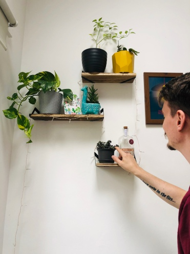 Zach with our plant babies